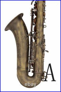 100% New Professional Bb Matt bronze Surface High F# Tenor Saxophone