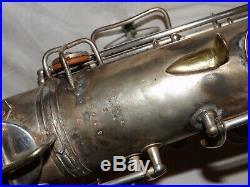 1920's Conn New Wonder Tenor Sax/Saxophone, Original Silver, Recent Pads