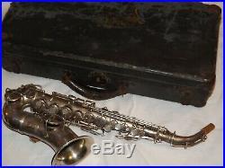 1921 Conn New Wonder Curved Soprano Sax/Saxophone, Worn Silver, Plays Great