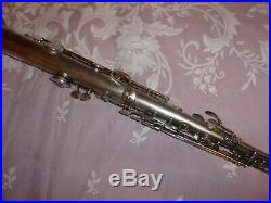 1926 Conn New Wonder Chu Bb Soprano Sax/Saxophone, Silver, Plays Great