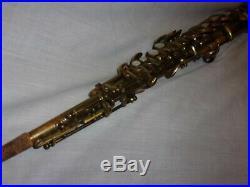 1928 Conn New Wonder Chu Bb Soprano Sax/Saxophone, Plays Great