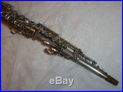 1928 Conn New Wonder Chu Bb Soprano Sax/Saxophone, Silver, Plays Great