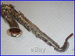 1929 Buescher True Tone Tenor Saxophone, Silver, Snap Pads, Plays Great