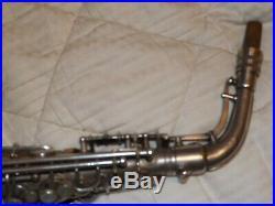 1932 Conn 6m Transitional Alto Saxophone #251XXX, Silver, Lady, Recent Pads