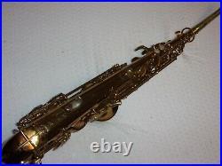 1936 Buescher Aristocrat True Tone, Deco-Engraved Alto Saxophone, Plays Great