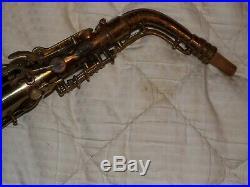 1936 Conn Transitional 6m Alto Saxophone #273XXX, Naked Lady, Plays Great