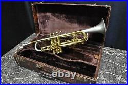 1946 KING H. N. WHITE SILVERTONE Trumpet W / Hard Case / Mouthpiece /2 Lyres