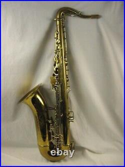 1951 Buescher 400 Top Hat & Cane Professional Tenor Saxophone Snap In Pads Rare