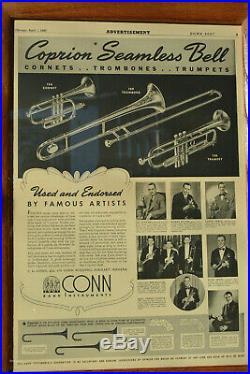 1951 CONN 12A COPRION #2 BORE (. 468) PRO Bb CORNETCUSTOM TRIGGERS XLNT. COND