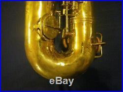 1951 CONN 12M NAKED LADY BARITONE SAXOPHONE BARI SAX for REPAIR/RESTORATION