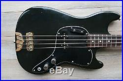 1978 Fender Musicmaster Black USA Vintage Jazz pickup Brass Bridge 70's