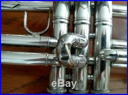 1995 Silver Plated Bach Stradivarius Professional 37 ML Trumpet with Case