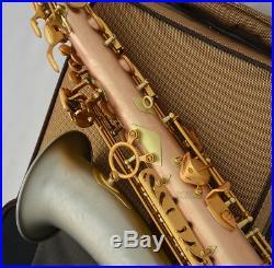2019 Concert Professional Rose Brass Alto Saxophone Eb saxofon Cupronickel Bell