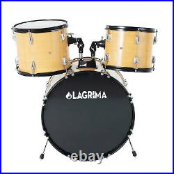 5 Pieces 22 Full Size Adult Drum Set Stool Cymbal Adjustable Throne Stick Pedal