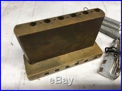 80s Schecter Van Nuys Era Solid Brass Stratocaster Tremolo Bridge Vibrato
