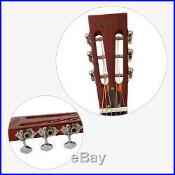 Aiersi Brand Hawaii Tree Palm Pattern Chrome Finish Bell Brass Resonator Guitar