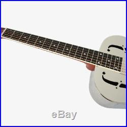 Aiersi Brand O Style Gloss Chrome Plated Bell Brass Metal Resonator Guitar