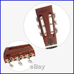 Aiersi Matt Bell Brass Distress Acoustic Blues Slide Tricone Resonator Guitar