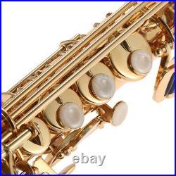 Ammoon Brass Straight Soprano Sax Saxophone Bb B Flat withCase, Beginners Gift