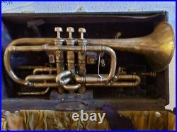 Antique 1905 CONN Conn-Queror Coronet Horn Trumpet C. G. Conn Elkhart Ind. USA