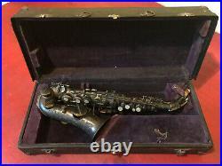 Antique Buescher 1914 True Tone Low Pitch Saxophone S/N 134633 In Case
