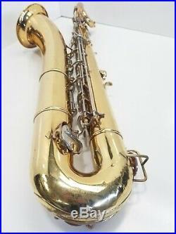 Armstrong Low A Baritone Saxophone, Conn 11m Stencil