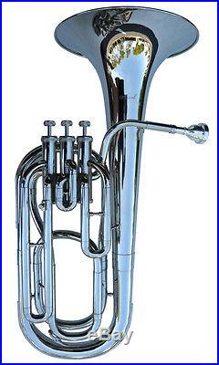 BRAND NEW SILVER BARITONE WithCASE-APPROVED+ WARRANTY