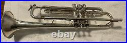Bach Stradivarius 180 Bb Trumpet 37 Silver- SN 647828 Excellent Condition