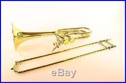 Bach Stradivarius 50A3 Bass Trombone Dual Hagmann Valves MINT CONDITION