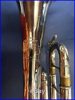 Bach Stradivarius Bb Trumpet Model 43 Silver with Case Playing Condition
