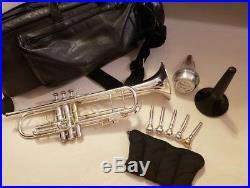 Bach Stradivarius Model 37 Professional Trumpet in Silver Plate
