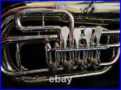 Bb/C 4 Rotary Valve Euphonium Brand New Brass With Free Hard Case+Mountpiece