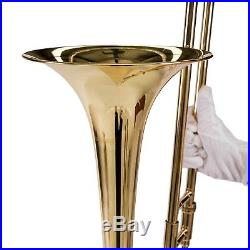 Bb Slide Trombone BB Professional School Band Student with Tuner, Case, Care Kit