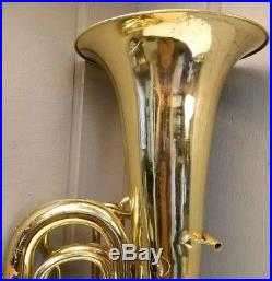 Beautiful Meinl Weston Model 25 4 Valve Rotary Tuba Cleaned And Ready To Play