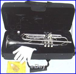 Brand New Silver Student Band Trumpet /case. Approved+warranty