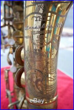 Buescher 400 Top Hat & Cane Alto Saxophone Org. Lacquer Snaps Norton Springs