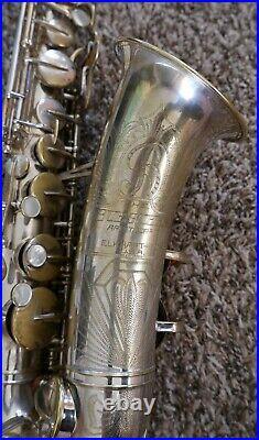 Buescher Aristocrat Series II Silver Plated Big B Alto Saxophone Norton Springs