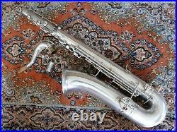 Buescher Silver Plated True Tone Tenor Saxophone Sax Front F Just Refurbished