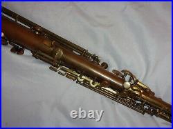 Buescher True Tone Bb Soprano Sax/Saxophone, Snap-In Pads, Plays Great