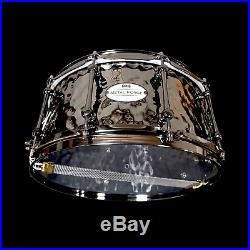 CHAOS METAL FORGE 14'' x 6.5'' HAMMERED BRASS SNARE DRUM LUDWIG PEARL MAPEX TAMA