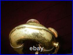 C. 1955 King Zephyr Baritone Bari Saxophone Double Tenon Neck For Restoration
