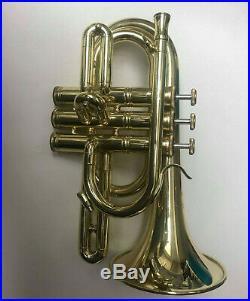 Carol Brass C Pocket Trumpet (Gold Lackered) PT-4000-YLS-C-L