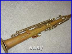 Conn Chu Bb Soprano Sax/Saxophone, Bare Brass, Plays Great