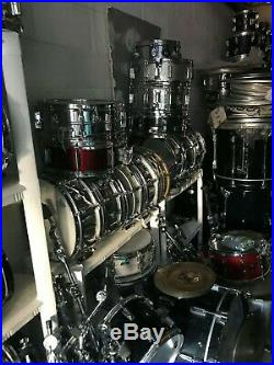 Dw Ludwig Tama Pearl Drum Set Drums k Zildjian Sabian Paiste Snare Black Beauty