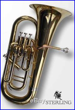 EUPHONIUM STERLING Pro Quality Four Valves With Case Brand New