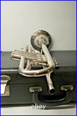 E Benge 3 Resno-Tempered ML Bore Silver Trumpet with 2 Mouthpieces + Case