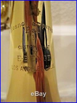 E-Benge Los Angeles, Calif Custom Built Resno-Tempered Bell 3 Trumpet