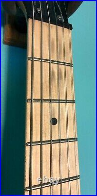 Earl Slick Guitar, Surf Green, Strat Style Body, Single Humbucker, Brass Hardware
