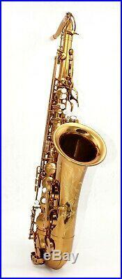 Eastern music dark gold lacquer tenor saxophone Mark VI type no F# white PC case