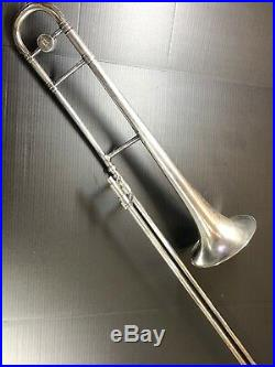 F. A Reynolds Tenor Silver Trombone 1930's with Case, RARE No Reserve. 99c